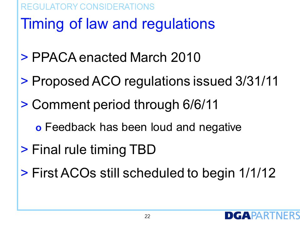 Governance requirements to become an ACO