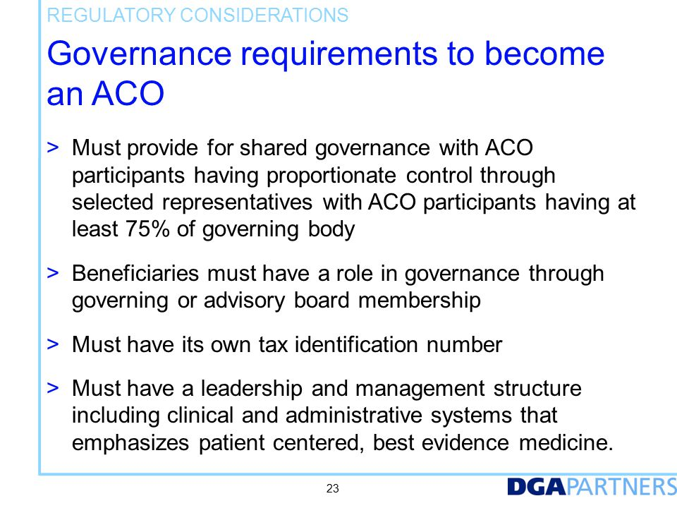 Federal regulatory relief for ACOs is not helpful