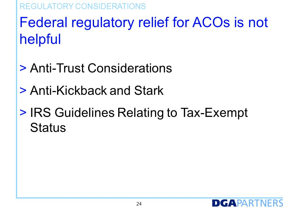 What are the antitrust guidelines for ACOs