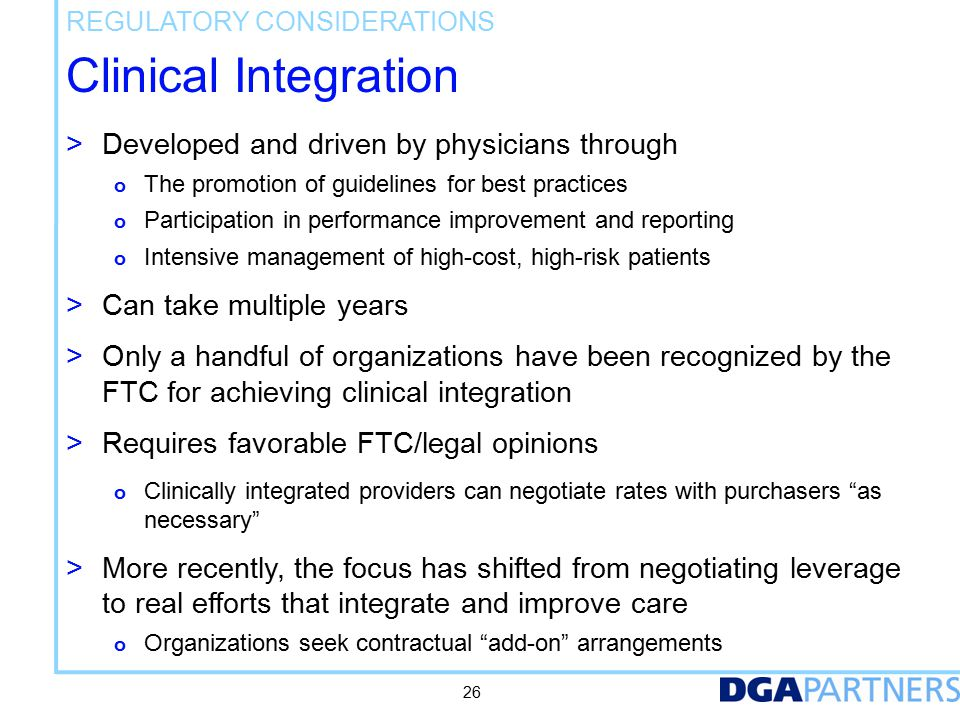 Clinical Integration – FTC Definition