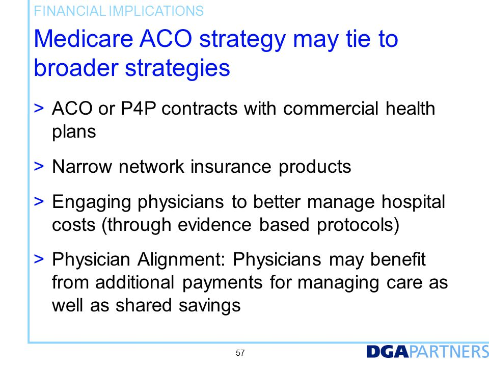 Who Should Pursue ACOs And When