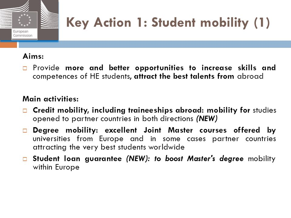 Key Action 1: Student mobility (1)