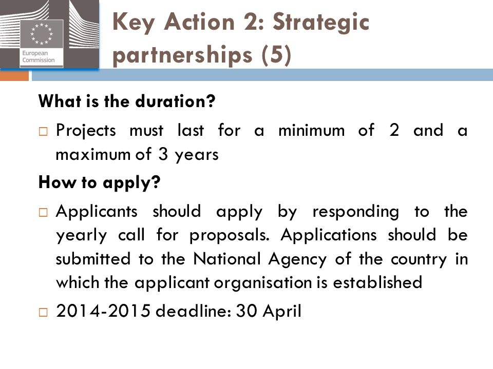 Key Action 2: Strategic partnerships (5)