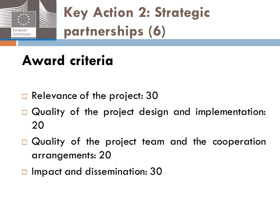 Key Action 2: Strategic partnerships (6)