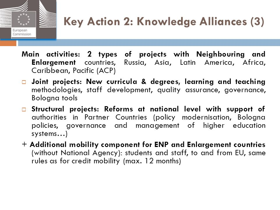 Key Action 2: Knowledge Alliances (3)