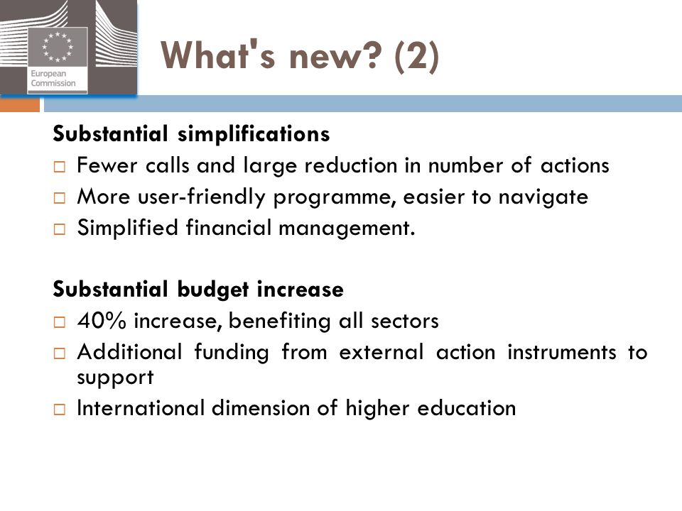 What s new (2) Substantial simplifications