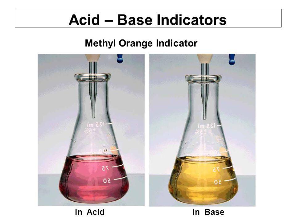 Acid – Base Indicators Methyl Orange Indicator.