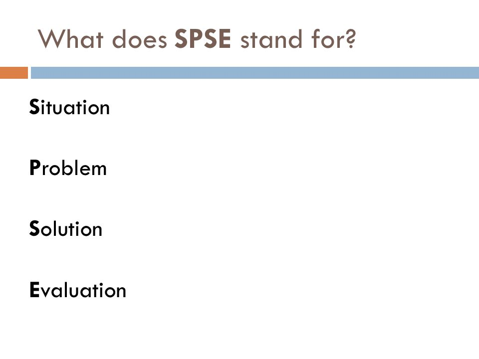What does SPSE stand for