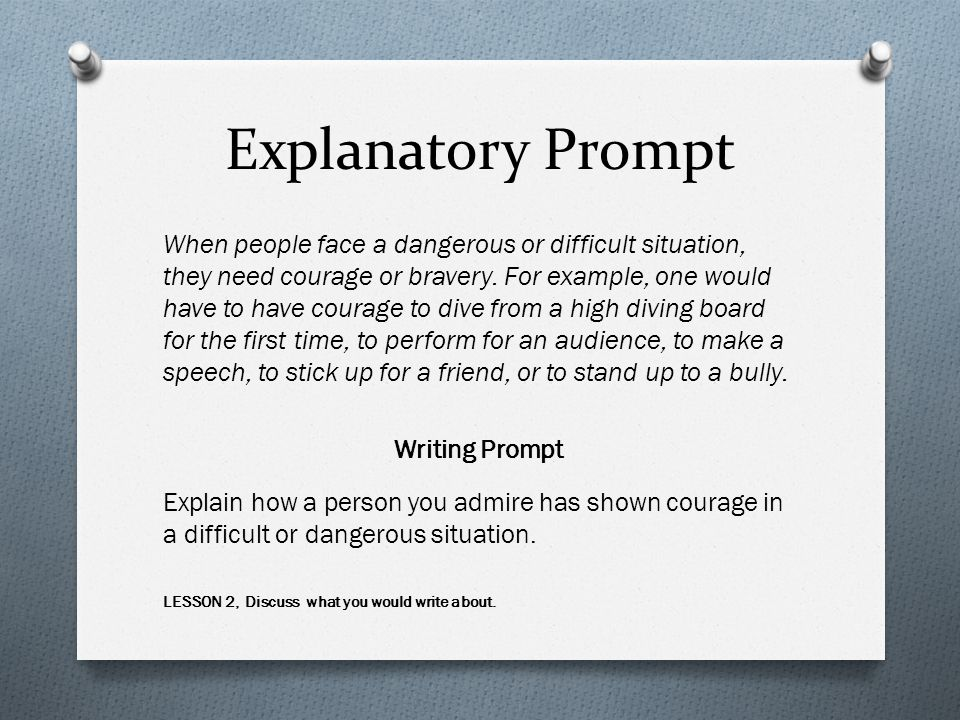 Explanatory Prompt