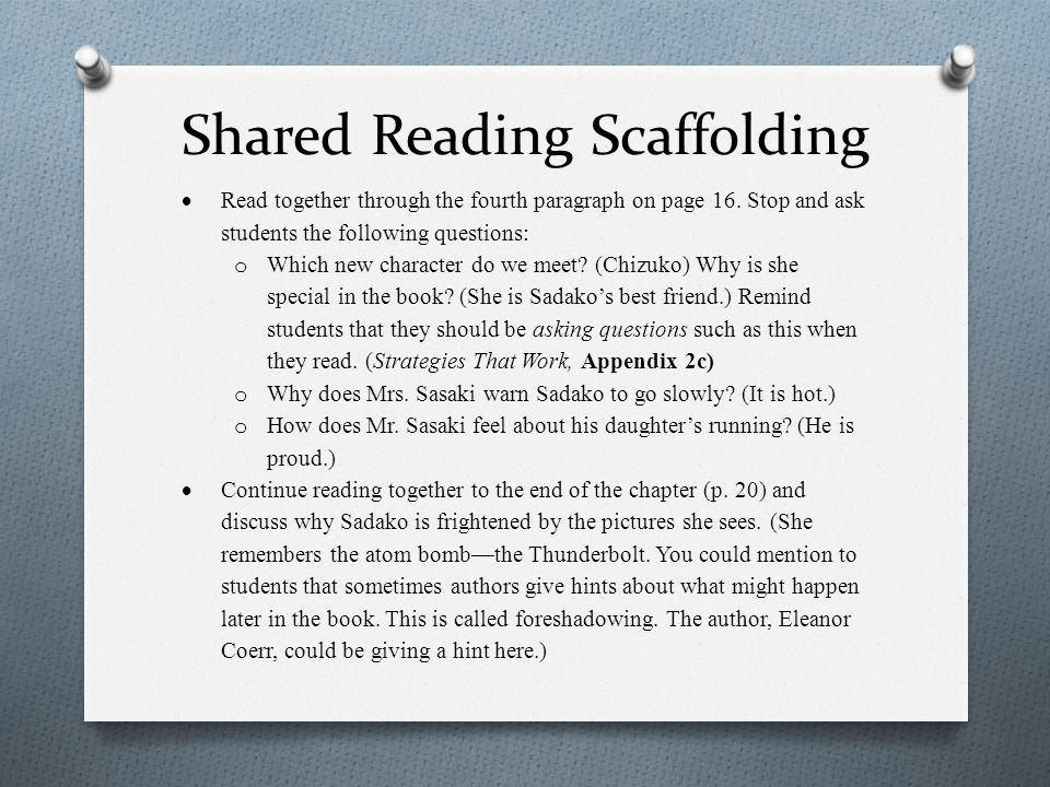 Shared Reading Scaffolding