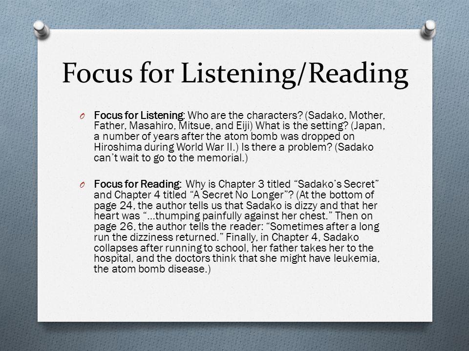 Focus for Listening/Reading