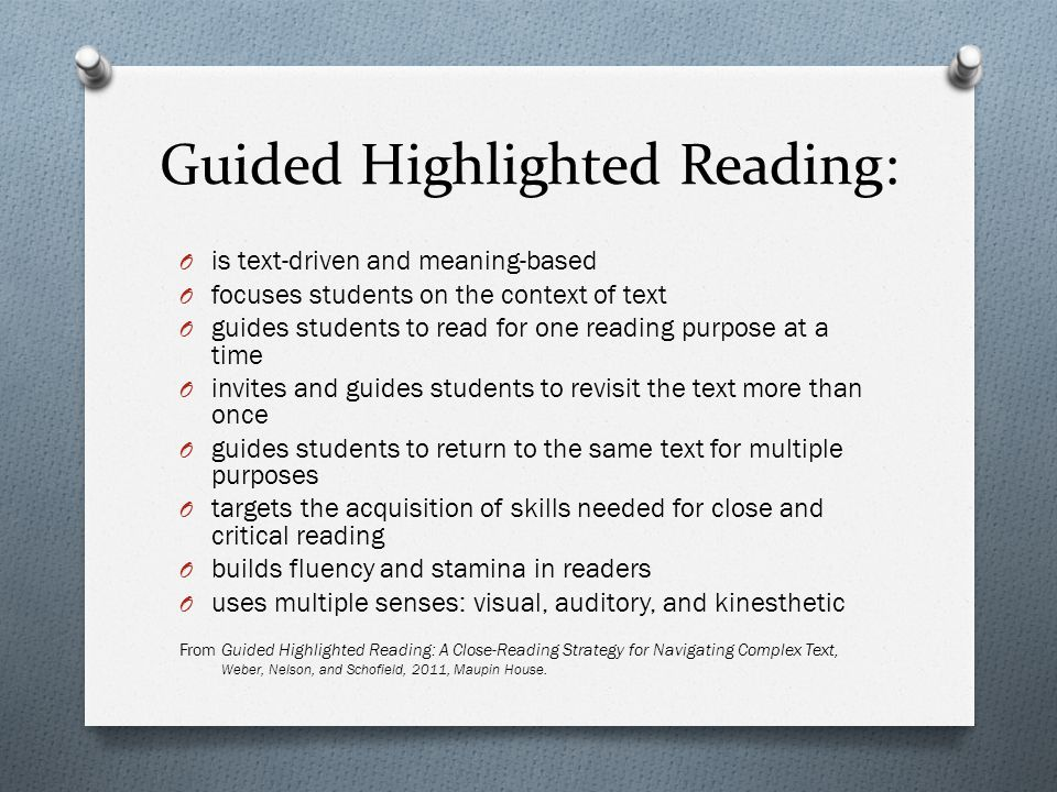 Guided Highlighted Reading: