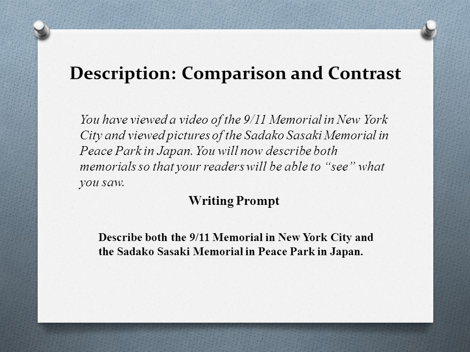 Description: Comparison and Contrast