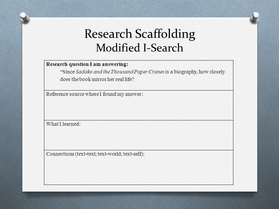 Research Scaffolding Modified I-Search