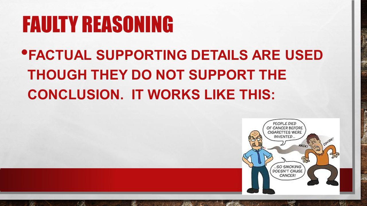 Faulty reasoning propaganda examples