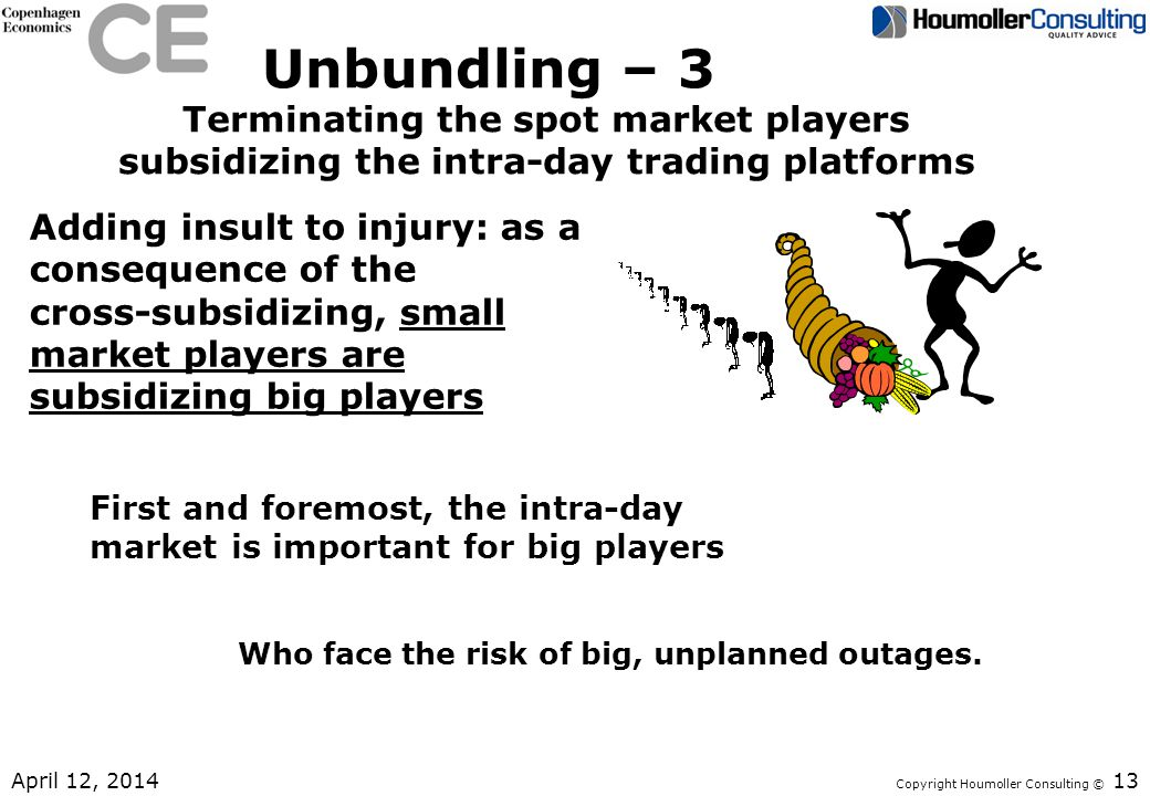Unbundling – 3 Terminating the spot market players