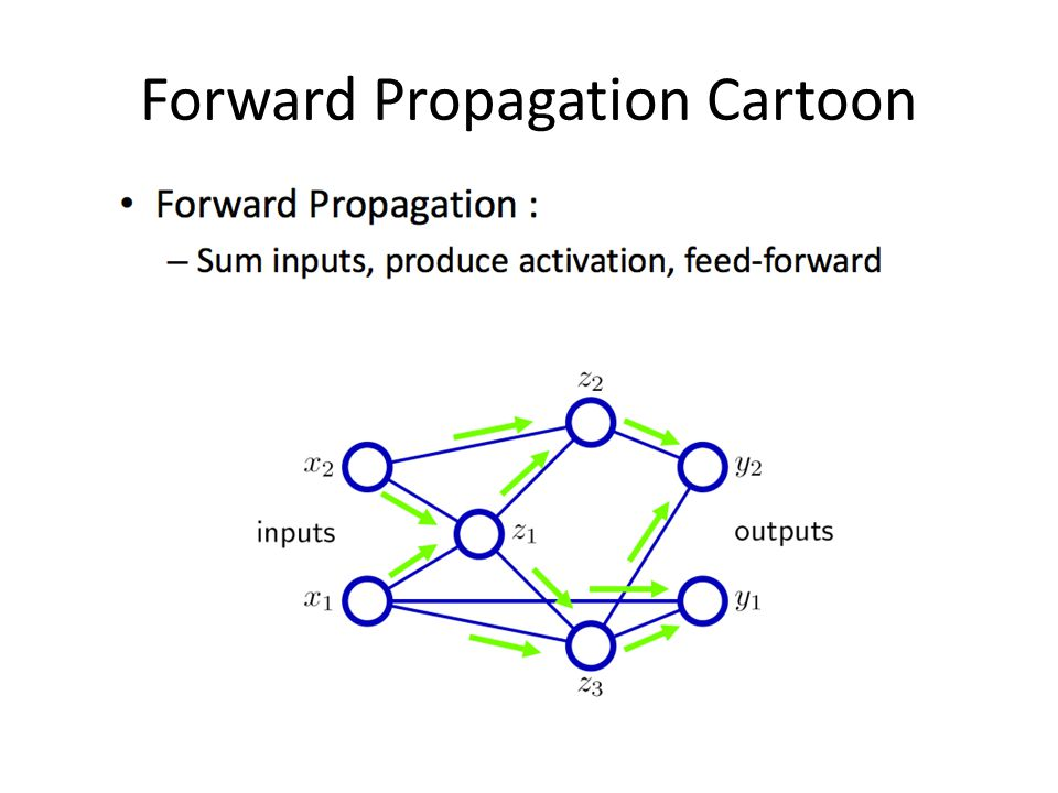Forward Propagation Cartoon