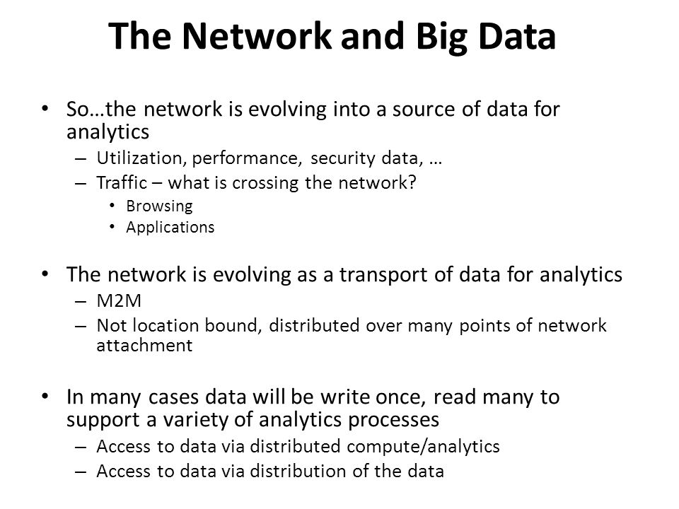 The Network and Big Data
