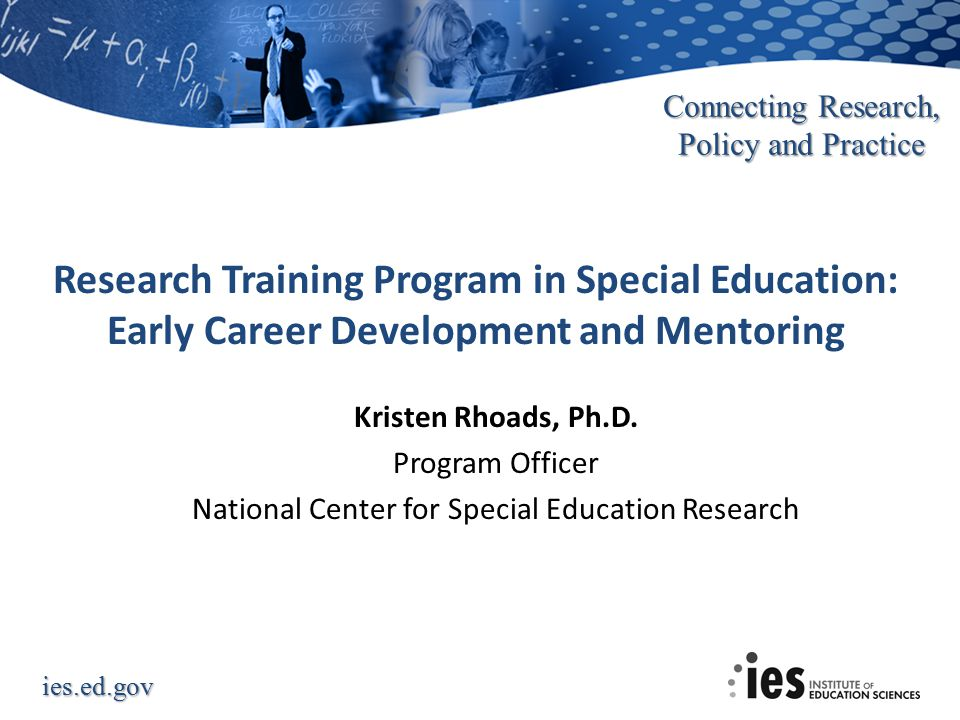 Research Training Program in Special Education: