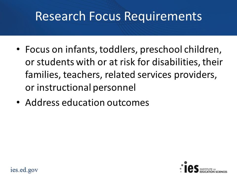 Research Focus Requirements