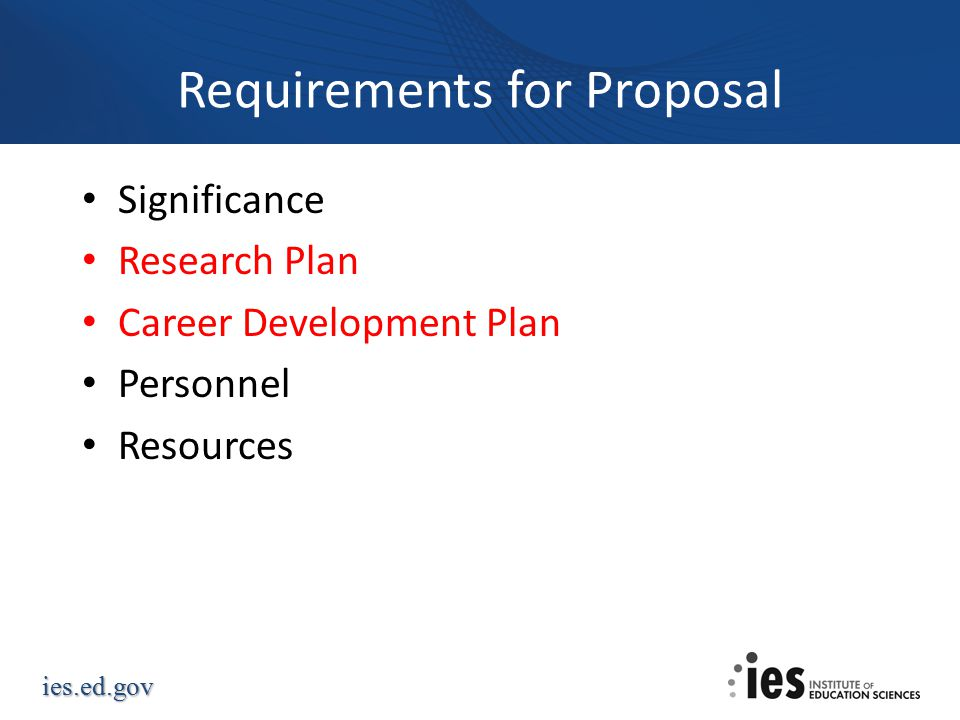 Requirements for Proposal