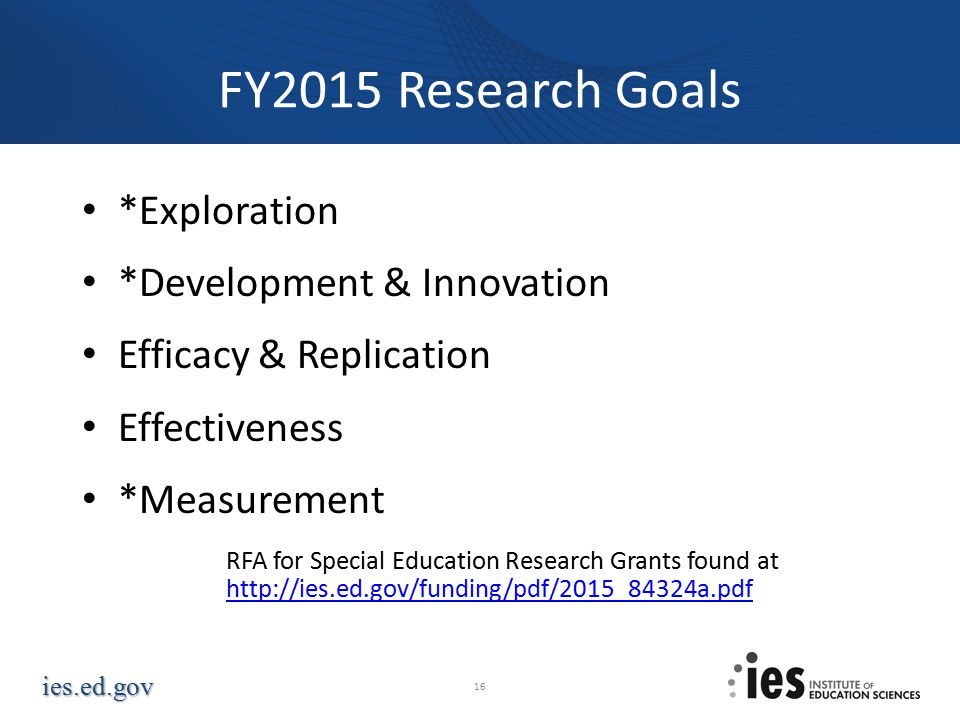 FY2015 Research Goals *Exploration *Development & Innovation