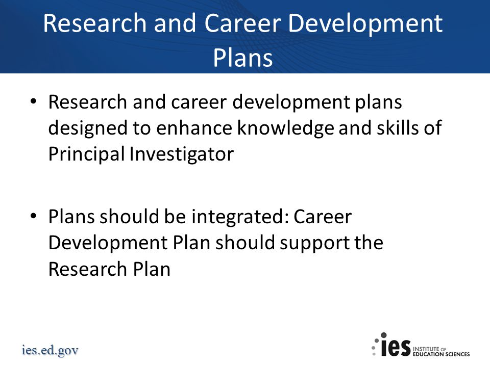Research and Career Development Plans