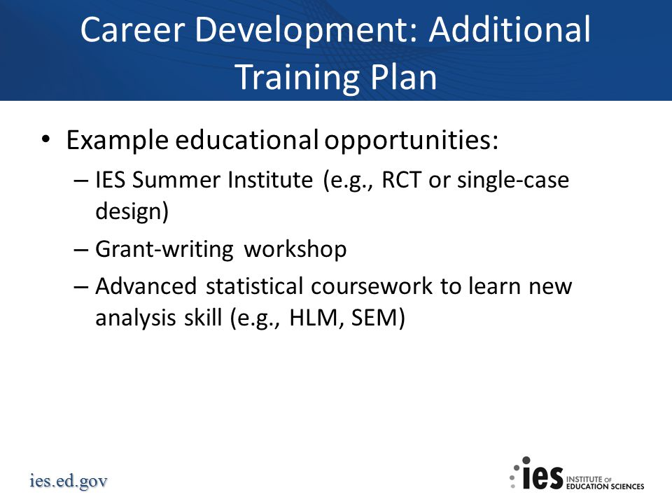 Career Development: Additional Training Plan