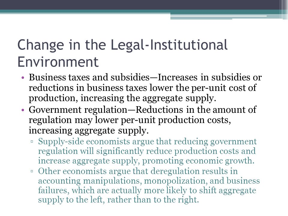 Change in the Legal-Institutional Environment