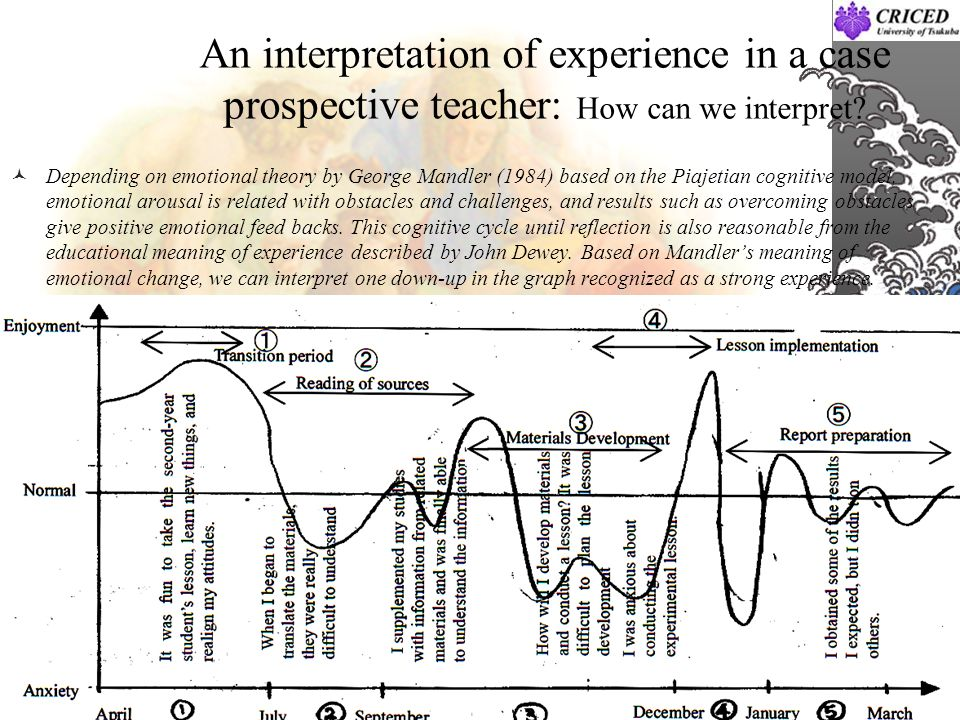 An interpretation of experience in a case prospective teacher: How can we interpret