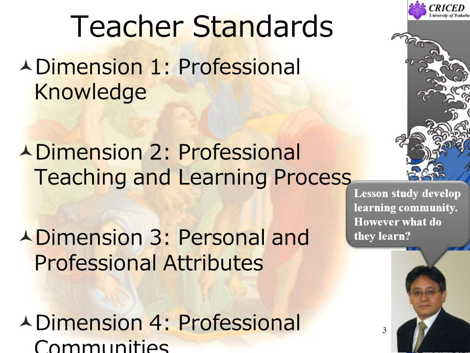 Teacher Standards Dimension 1: Professional Knowledge