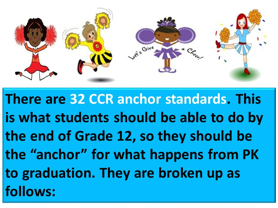 There are 32 CCR anchor standards