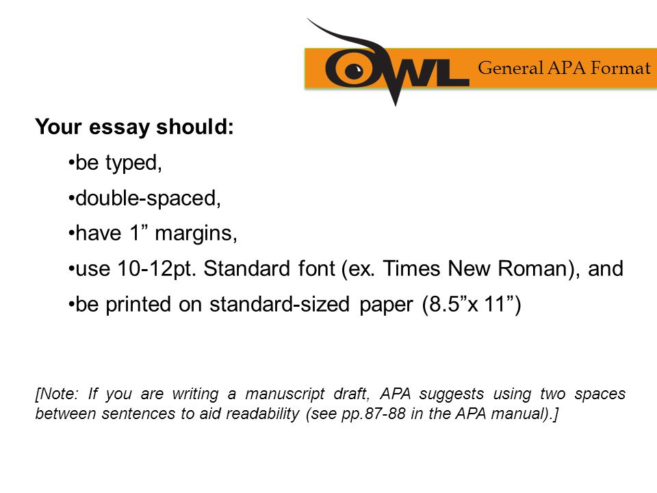 use 10-12pt. Standard font (ex. Times New Roman), and