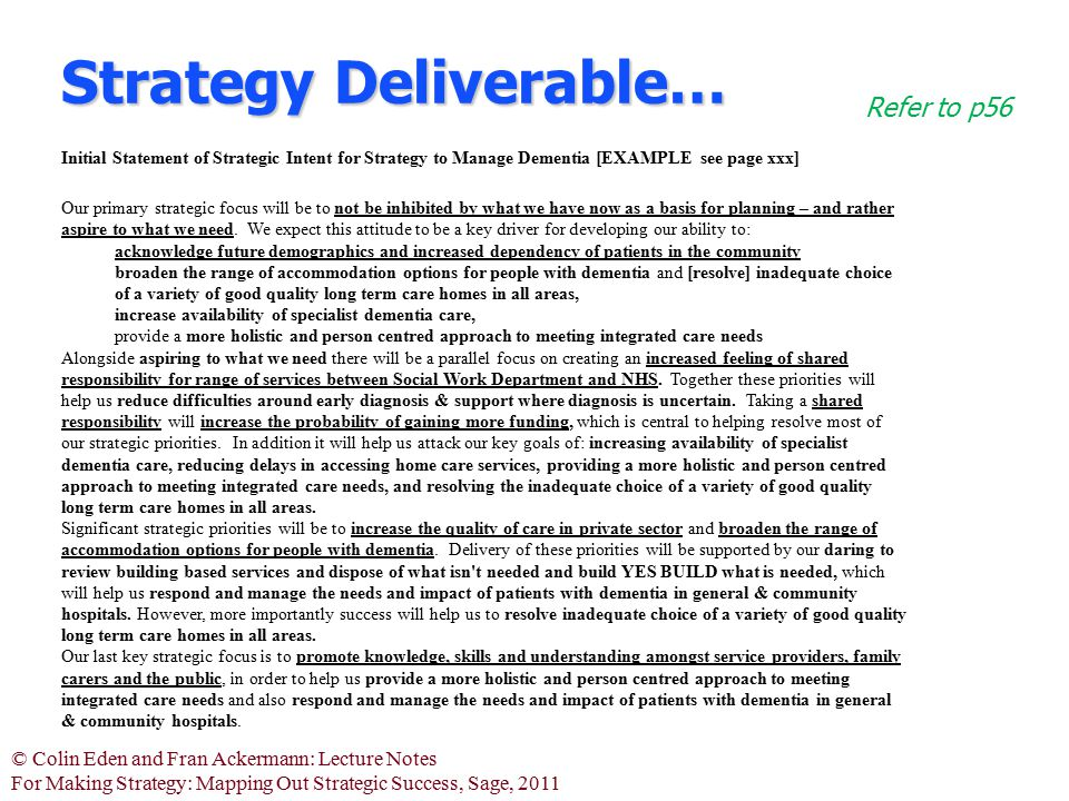 Strategy Deliverable…