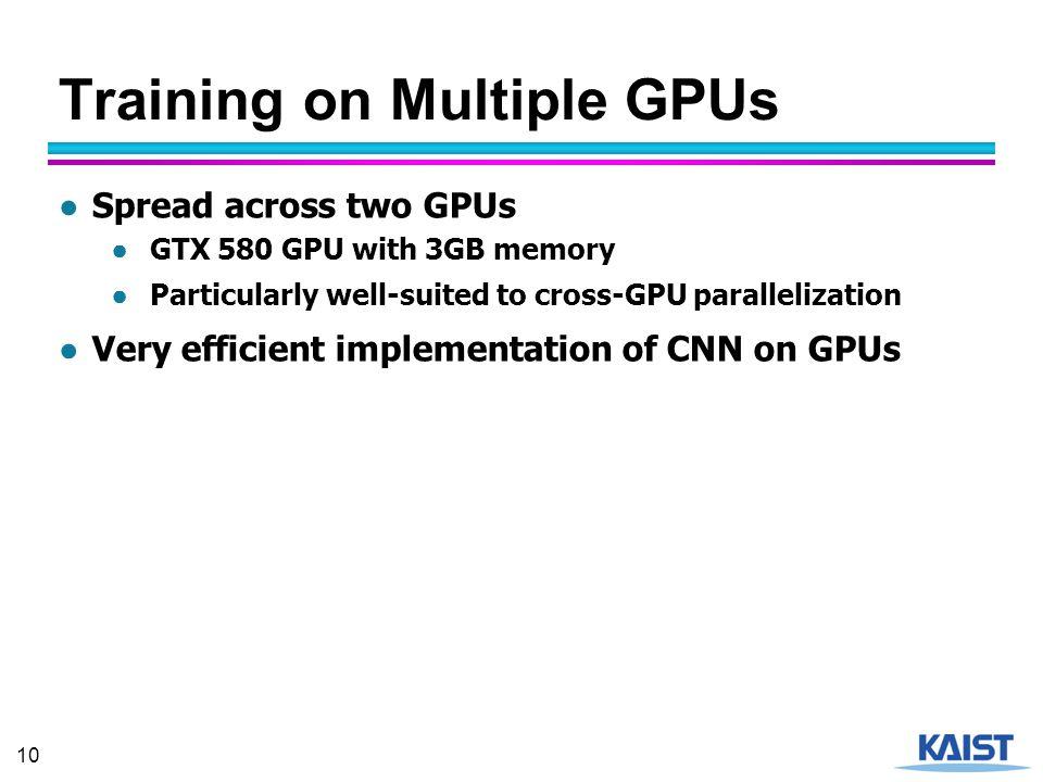 Training on Multiple GPUs