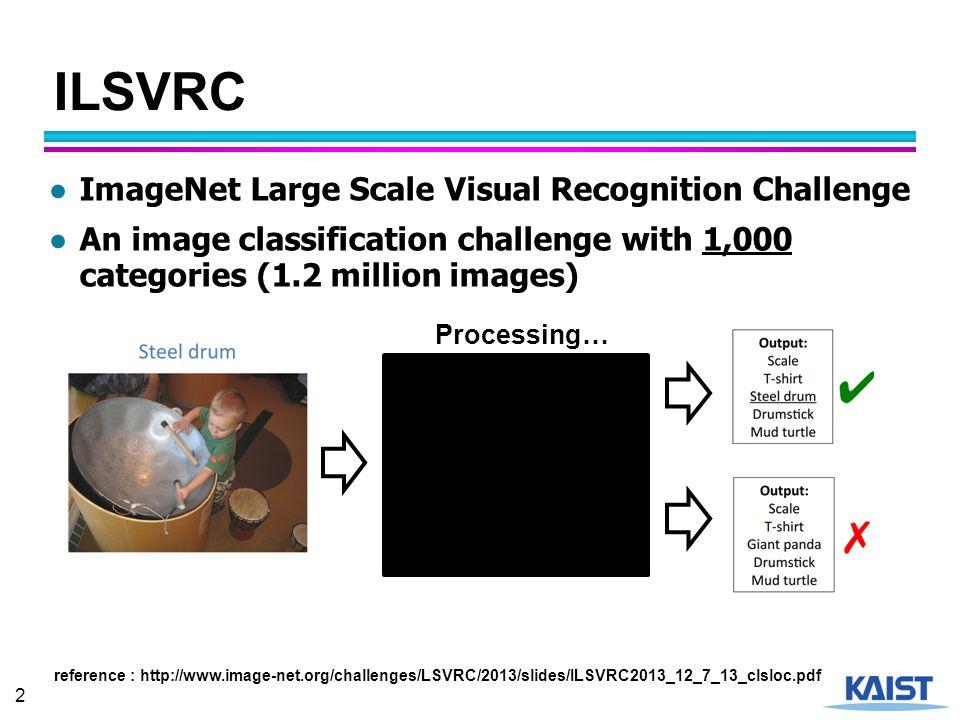ILSVRC ImageNet Large Scale Visual Recognition Challenge
