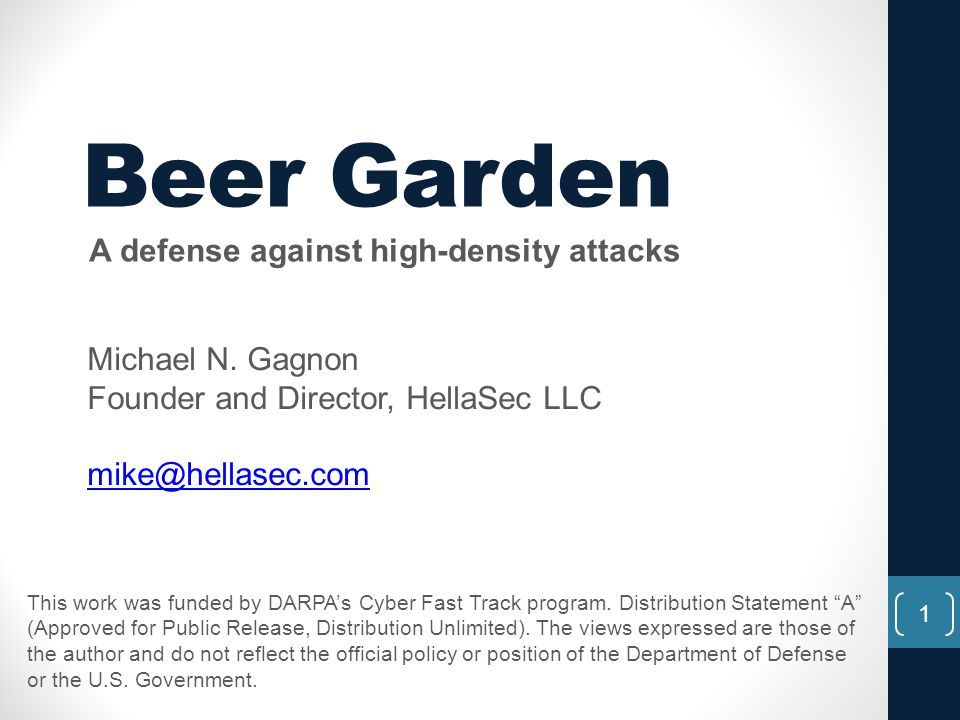 A defense against high-density attacks