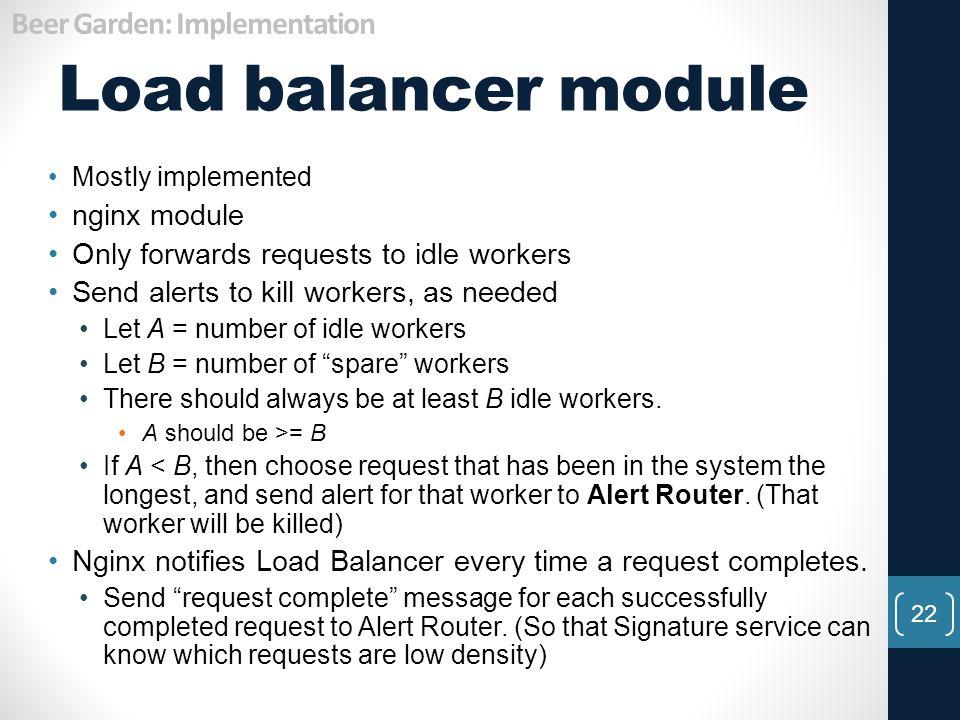 Load balancer module Beer Garden: Implementation nginx module