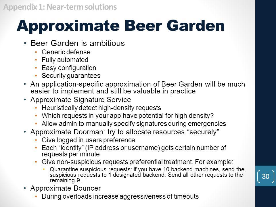Approximate Beer Garden