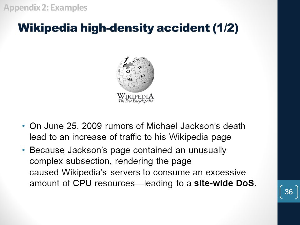 Wikipedia high-density accident (1/2)