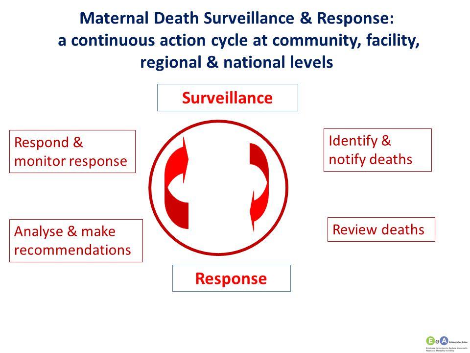 Maternal Death Surveillance & Response: