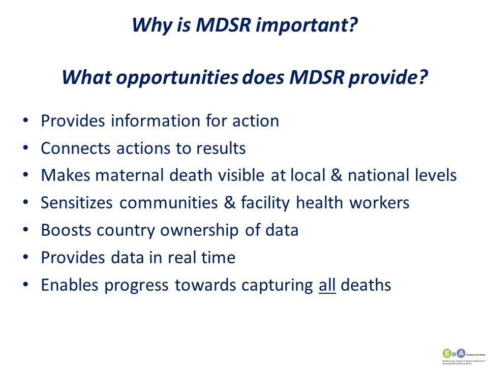 Why is MDSR important What opportunities does MDSR provide