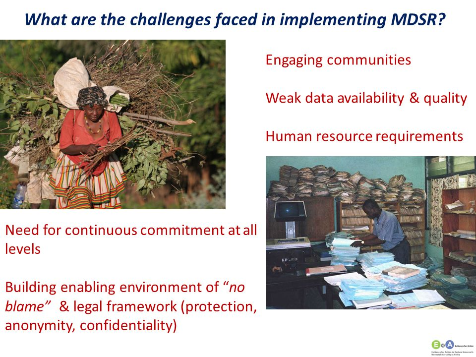 What are the challenges faced in implementing MDSR
