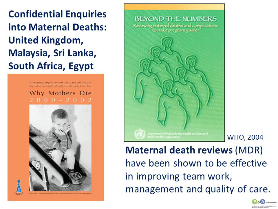 Confidential Enquiries into Maternal Deaths: