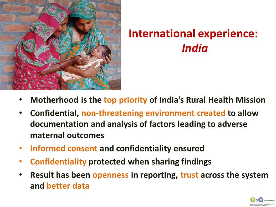 International experience: India