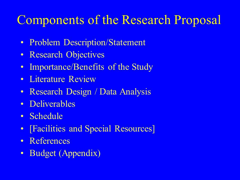 Notes On Research Proposals - Ppt Video Online Download