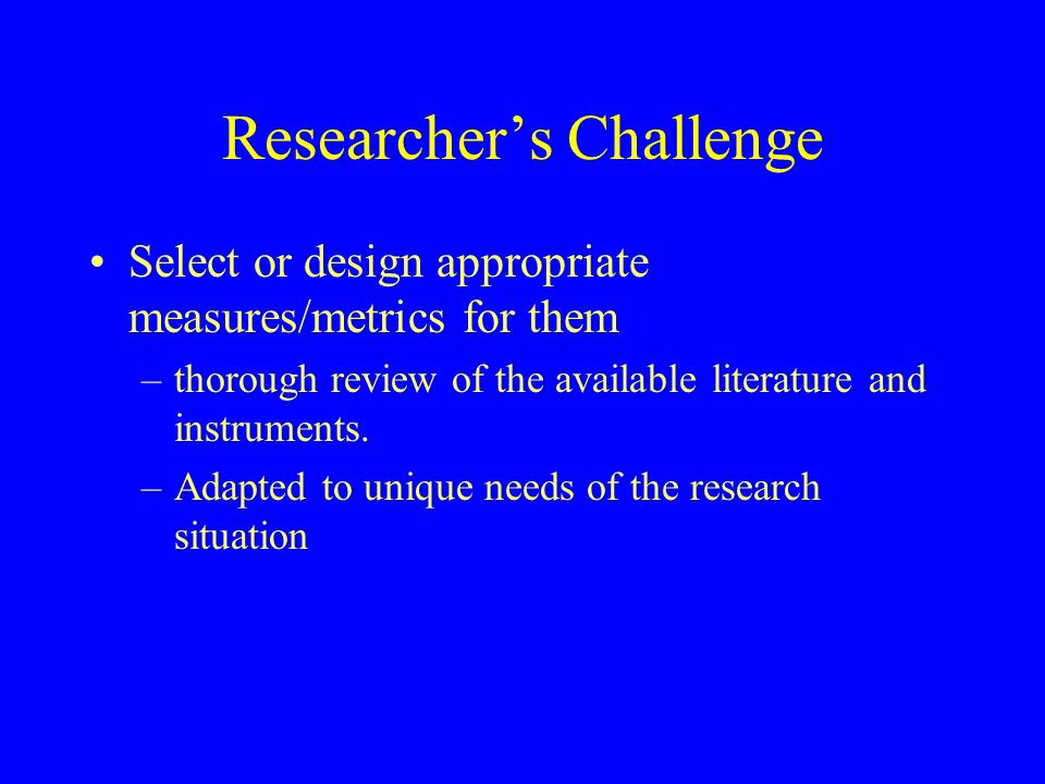 Researcher's Challenge