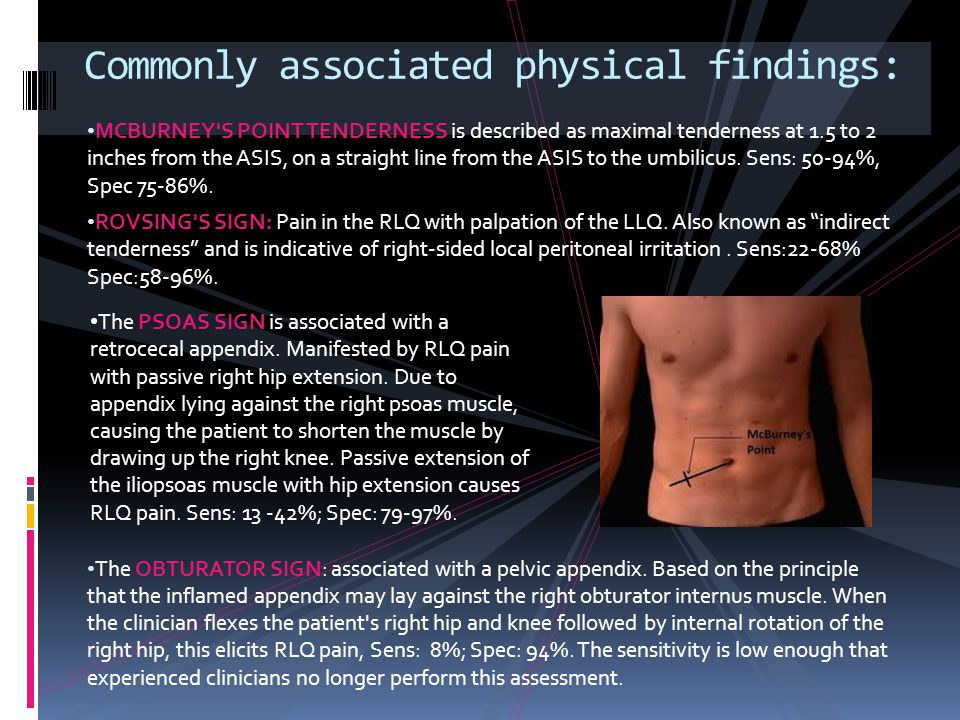 Commonly associated physical findings: