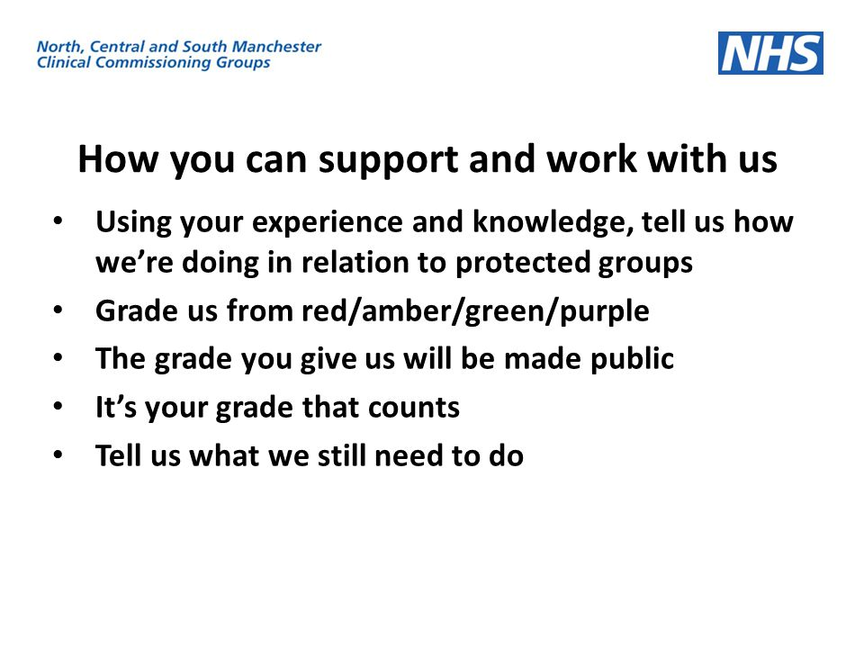 How you can support and work with us