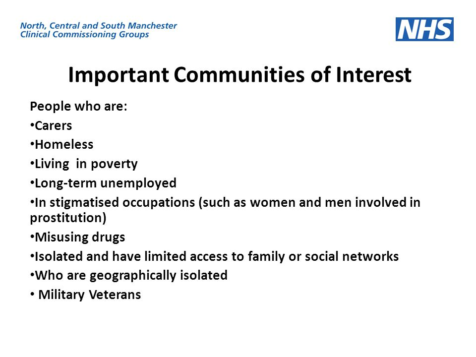 Important Communities of Interest